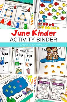 Keep your kid's kindergarten skills sharp over the summer with the June Kindergarten Binder. SUPER low prep preschool activities on the go. Just add some playdough or toys and play.