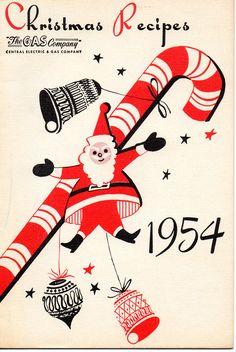 1954 Gas Company Cookbook! Wonderful graphics