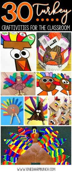 Easy DIY turkey crafts for your classroom, including FREE turkey activities, turkey headband, pattern block turkey, handprint turkey and many more Thanksgiving crafts and activities for kids! You wont want to miss the adorable popsicle stick turkey! Turkey Project, Turkey Craft, Thanksgiving Preschool, Thanksgiving Crafts For Kids, Thanksgiving Turkey, Crafts For Teens To Make, Kid Crafts, Fall Crafts, Toddler Crafts