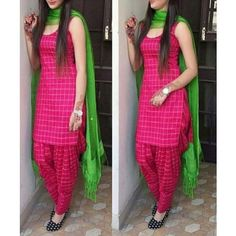 Patiala Salwar Suits, Churidar, Designer Wear, Party Wear, Cotton, Pink, How To Wear, Stuff To Buy, Dresses
