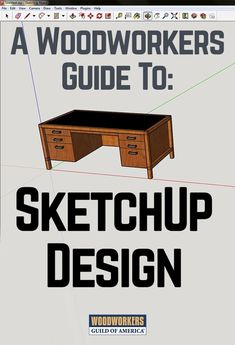 """Prior to SketchUp, I just made designs with pencil and paper and a couple of general computer applications that were not intended for furniture design. I felt constrained, and the limitations of the tools were negatively affecting my designs. I wanted to gain the efficiency of a """"real design tool"""" that would allow me to work in three dimensions with a tool set that was purpose-built for detailed illustrations, so I finally made a commitment to learn SketchUp. #woodworkingtools"""