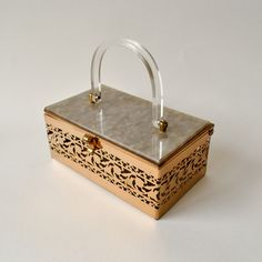Love Letters Lucite Box Purse now featured on Fab.
