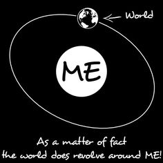 The world revolves around ME  by ~Descyber via deviantart.com