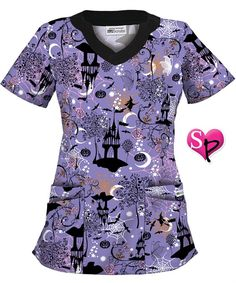 if youre looking for scary scrubs uniform advantage has a variety of halloween scrubs like the spooky fairytale print scrub top at prices that wont