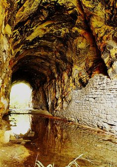Split Rock Tunnel Interior. A look inside the long forgotten Split Rock Tunnel. Built in 1854 this is Illinois oldest Railroad Tunnel, on the old Rock Island main line near Utica, Illinois.