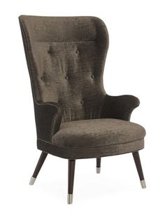 Modern Metro Mid Century Wingback Chair by Caracole at Gilt
