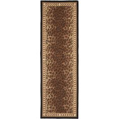 Safavieh Hand-made Chelsea / Brown Wool Rug