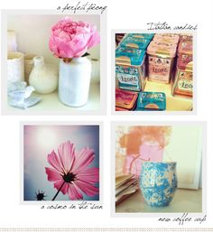 One of my favorite blogs...The colors are always so fresh and pretty. Definitely inspiring!