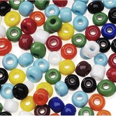 Glass Seed Beads Mix - Assorted Color - Value Pack
