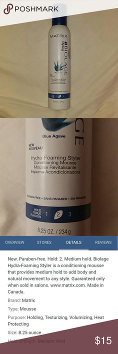 Biolage Hydra-Foaming Styler At least 2/3 full.  Only was used twice by my sister. Biolage Other