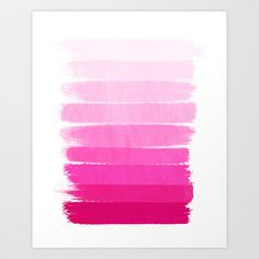 Luca - Ombre Brushstroke, pink girly trend art print and phone case for young trendy girls