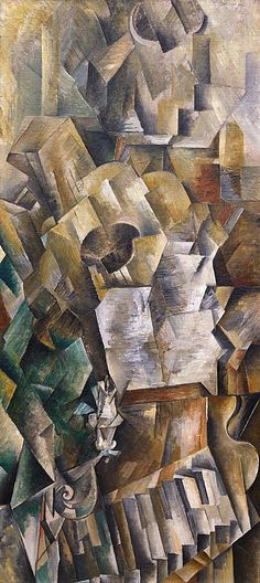 Collection Online | Georges Braque. Piano and Mandola (Piano et mandore). winter 1909–10 - Guggenheim Museum
