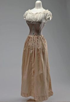 Woman's Lavender and Blue Corset. Ca. 1865 to 1875   Missouri History Museum #vintage #vintagefashion