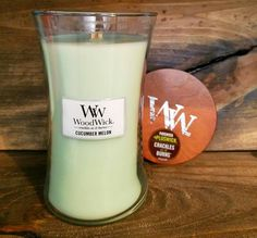 Woodwick-Cucumber Melon Large Candle 21.5oz