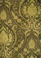 Floral Fabric - Decorating Fabrics   - Victor Chocolate Paisley Upholstery