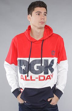 The All Day Sport Hoody in Red by DGK