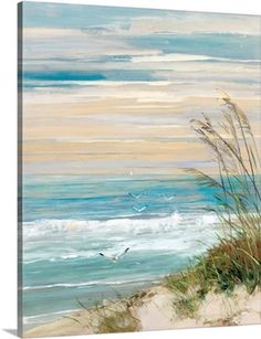 Maillot de bain : Look what I found on Beach Scene Wrapped Canvas This Beach Scene Wrapped Canvas by Courtside Market is perfect! Artissimo Designs Beach At Dusk Hand Embellished Canvas - Canvas Wall Decor Shop for Portfolio Canvas Decor Beach at Dusk Can Painting & Drawing, Painting Prints, Art Prints, Painting Canvas, Framed Prints, Beach Drawing, Canvas Prints, Acrylic Paint On Canvas, Beginner Canvas Painting Ideas
