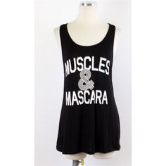 Muscles & Mascara Top-SMALL Brand new! Super cute! 15% off of bundles! FEEL LIKE MAKING AN OFFER? Please do it through the make an offer feature as I will no longer negotiate prices in the comments section. PRICE IS FINAL ON ITEMS $15 or less unless bundled.ALSO AVAILABLE AT hannahbeury.com! Tops Tank Tops