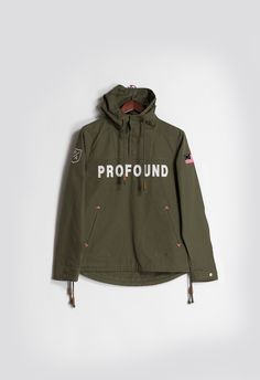 Short-Sleeve Asymmetrical Hooded Parka in Olive | Jackets, Models ...