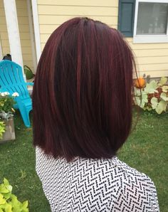 Winter fiery mahogany red hair color