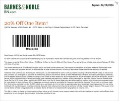 Pinned February 29th: 20% off a single item today at Barnes & #Noble or online via promo code BNLEAP20 #coupon via The #Coupons App