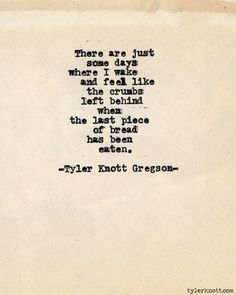 Typewriter Series #385 by Tyler Knott Gregson