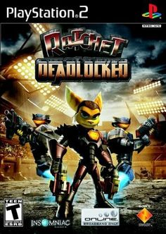 Ratchet Deadlocked - PlayStation 2 by Sony Computer Entertainment, http://www.amazon.com/dp/B0009I6S0Y/ref=cm_sw_r_pi_dp_YqfWsb0NS8KTT