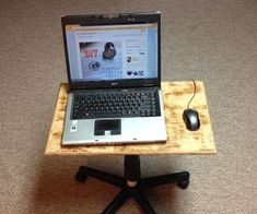 Office Chair → Laptop Stand