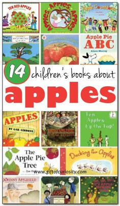 14 books about apples for kids - both fiction and non-fiction selections for kids ages 2-9 #apples #booklist || Gift of Curiosity