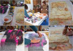 Factory Cathy: Initiation à la laine feutrée de Maryline et Gabri...