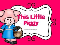 This Little Piggy is a great print and go back for school or home! With 30 pages of printables, your life will be made easier by ju st printing… Nursery Rhymes Preschool, Nursery Rhyme Theme, Nursery Rhymes Songs, Preschool Age, Summarizing Activities, Reading Response Activities, Vocabulary Activities, Engage In Learning, Kids Learning