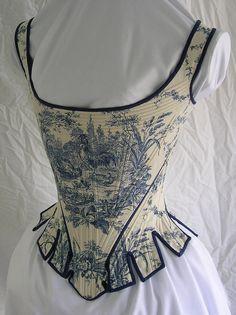 toile stays/corset
