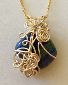 Beautiful wrapped blue Sodalite stone by TROPICALNecklaces