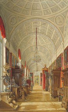 Interiors of the Small Hermitage. The Eastern Gallery
