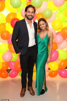 Love Island couple Camilla Thurlow and Jamie Jewitt put on a united front at Fearne Cotton's Cath Kidston launch on Thursday night, days after rumours their romance is on the rocks Love Island Couples, Camilla Thurlow, Fearne Cotton, Cath Kidston, Celebrity Couples, Put On, Mail Online, Daily Mail, Pretty Dresses
