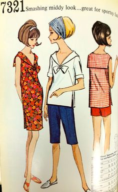 A page from a 1964 McCall's pattern catalog. #mccalls #vintagesewing