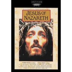 Jesus of Nazareth - Robert Powell, Olivia Hussey. Franco Zeffirelli creates an unforgettable portrait in his legendary interpretation of the life of Jesus. James Mason, Anthony Quinn and Anne Bancroft are included in the. Anne Bancroft, Easter Movies, Films Chrétiens, Ernest Borgnine, Pier Paolo Pasolini, Christian Films, Christian Music, The Bible Movie, I Love Cinema
