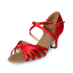 Satin Chaussures à talons Sandales Danse latine Chaussures de danse
