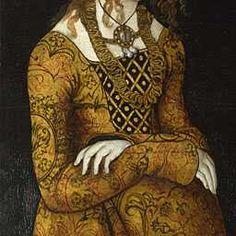 Cranach the Elder 1506. Cranach's black backgrounds, skin and embellishing.