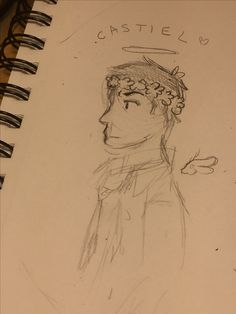 Here's my smol bean. Got bored and drew CAs with a flower crown