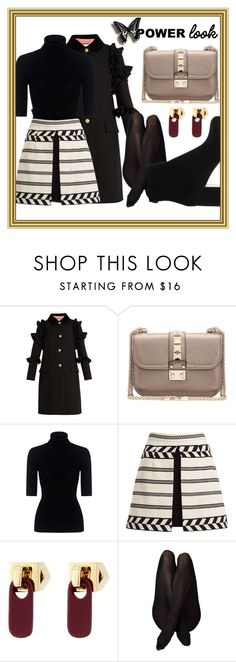 """""""Power Look"""" by eliksa ❤ liked on Polyvore featuring Gucci, Valentino, Theory, Alice + Olivia, Marc by Marc Jacobs and Gianvito Rossi"""