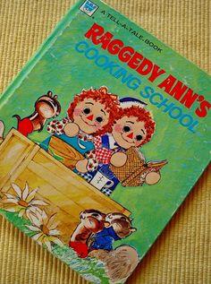 RAGGEDY ANN Cooking School Whitman BOOK vintage 1970s by AppelJar, $10.50
