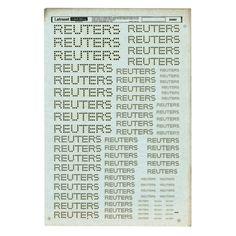 Reuters Letraset Sheet _ Alan Fletcher