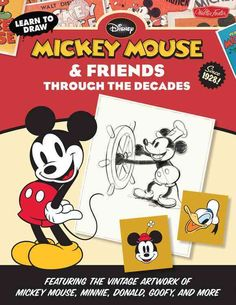 With an 85-year legacy, Disney's Mickey Mouse began as a character and has become a cartoon icon. Over the decades, that ubiquitous pair of ears has seen an artistic transformation spanning a premiere