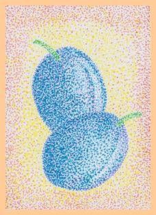 Ovoce s barevnými fixy