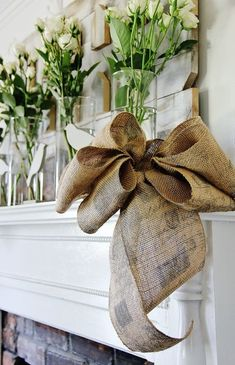 How To Make a Burlap Bow - Burlap Projects