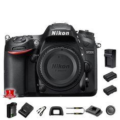 Nikon D7200 DSLR Camera Body + 2 Extra Batteries and Charger #Nikon