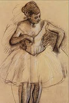Edgar Degas - part 2 Degas Drawings, Degas Paintings, Art Drawings, Ballet Drawings, Edgar Degas, Life Drawing, Figure Drawing, Degas Dancers, Ballet Dancers