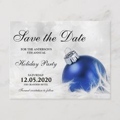 Christmas Party Save The Date Cards.Christmas And Holiday Party Save The Date