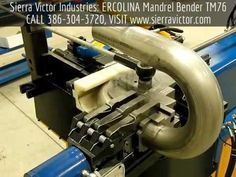 Sierra Victor Industries: ERCOLINA Semi-Automatic Top Mandrel Bender. Model TM76. For more information or to order, CALL 386-304-3720, VISIT http://sierravictor.com/index.php?subcats=Y&status=A&pshort=Y&pfull=Y&pname=Y&pkeywords=Y&search_performed=Y&cid=0&q=tm76&x=0&y=0&dispatch=products.search